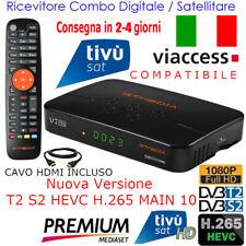 Decoder Tivusat HD Digitale Terrestre Dvb-T2 Satellitare Tv Sat Ricevitore LCN