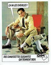 Publicité Advertising 079  1981  les chaussettes Dim pour homme