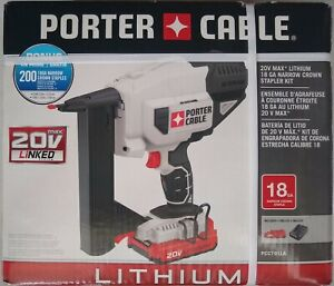 PORTER-CABLE PCC791LA 20V Max Crown Stapler Kit  W/ Battery & Charger -BRAND NEW