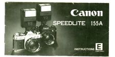 MANUALE CANON SPEEDLITE 155A EDIZIONE INGLESE/INSTRUCTIONS ENGLISH EDITION