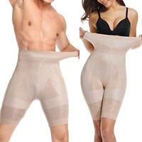 Men Women Body Shaper Control Tummy High Waist Slim Shorts Thigh Trimmer Panties