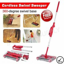 Electric Cordless Quad Brush Swivel Floor Sweeper Mop Bagless CO