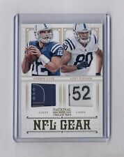ANDREW LUCK & COBY FLEENER 2012 TREASURES DUAL NFL GEAR TAG PATCH RC #36/49