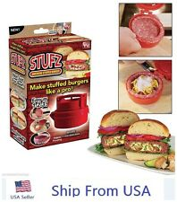 Stufz Stuffed Burger Press Hamburger Patty Maker Juicy BBQ Grill As Seen On TV#o