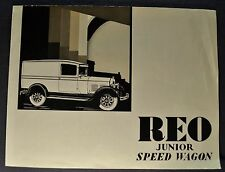 1927-1928 Reo Junior Speed Wagon Panel Truck Brochure Folder Nice Original