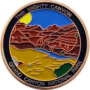 National Park Geocoin - Grand Canyon, Copper finish, Activated
