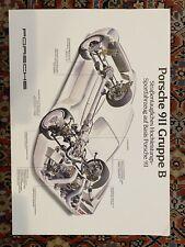 1985 911 Gruppe  B Porsche poster original