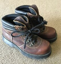 Dr Marten's DM's Leather Boot Sz 6 Made In England Brown Hiking 2000s Waterproof