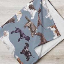 More details for mixed spaniels fleecy blanket/throw gift/present dog springer cocker