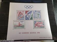 MONACO 1976, BLOC 11, JEUX OLYMPIQUES MONTREAL, SPORTS, neuf** MNH STAMP OLIMPIC