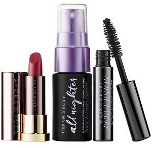 Urban Decay Perversion Mascara Vice Lipstick Makeup Setting Spray Makeup Lot 3