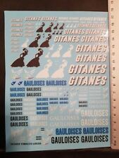 """DECALS """" GITANES / GAULOISES """" TOUTES ECHELLES 18cm X 14cm - COLORADO DCD023 UV"""