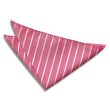 Men's Single Stripe Woven Evening Wedding Work Handkerchief Pocket Squares