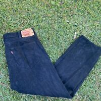 Levis 501 XX Straight Mens Button Fly Black Jeans Size 40x32 Distressed Raw