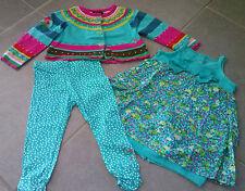 ensemble fille ~~ 2 ans  ***CATIMINI*** Jardin Extraordinaire (robe, gilet , ...