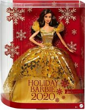 """Barbie Signature 2020 Holiday Doll Mattel Ages 6 Doll Stand 12"""" Height"""