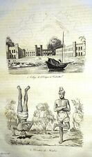 INDIA - SRI LANKA - CEYLON  VIEWS - Original 1834 Antique Prints set of 12