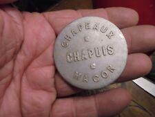 Ancien Petit Miroir Publicitaire sac de Dame Chapeaux Chapuis Mâcon