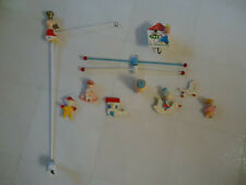 Vintage Hand-Painted Musical Mother Goose Mobile