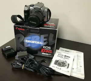 Canon EOS Digital Rebel Camera EF-S 18-55 Lens Kit w/ Extras/Good Condition.
