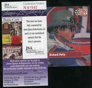 Richard Petty Signed 1991 Pro Set Racing #65 Autographed AUTO JSA COA