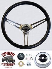 """1965-1966 Impala steering wheel SS TILT Grant 15"""" MUSCLE CAR STAINLESS wheel"""