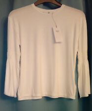 New Marks and Spencers Girls White Flared Sleeve Top Age 12/13 Years