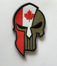 Canada Skull head MILITARY MORALE BADGES EMBROIDERED HOOK PATCH   AA 1138