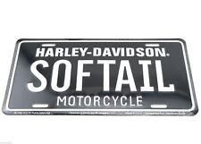 Harley Davidson SOFTAIL Motorcycle Licensed Metal License Plate Sign Tag