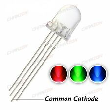 5pcs 5mm RGB led Common Cathode 3.1-3.3V red, green, blue colour led