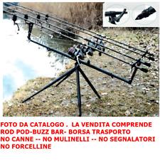 NEW  MCLASS ROD POD  MOD. FUTURA BLACK SPECIALE CARP FISHING AGONISMO