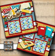 FIRST DAY OF 1ST GRADE ~ 2 premade scrapbooking pages SCHOOL layout BY DIGISCRAP