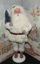 Byers Choice Fall Open House Off White Santa Claus w Christmas Tree 2016*