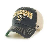 Pittsburgh Penguins cap hat nwt new NHL Black snapback Adjustable Mesh logo