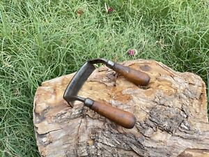 Vintage Scorp Inshave Curved Draw knife,2 Handed,Cooper,Chairmaker Woodworking
