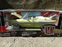 M2 Machines 1957 Chevy Bel Air Convertible 1:24 Scale Diecast Model Car Yellow