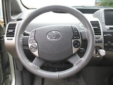 GREY Leather Steering Wheel Cover for Toyota Wheelskins Genuine Cowhide Size AX