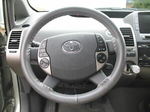 GREY Leather Steering Wheel Cover for Toyota Wheelskins Genuine Cowhide Size AXX