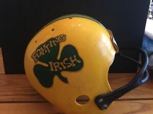 1970s Notre Dame Fighting Irish Hutch replica helmet.unique logo.