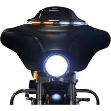 Custom Dynamics Gloss Black LED Windshield Trim & Turn Signal 96-05 Touring FLHT