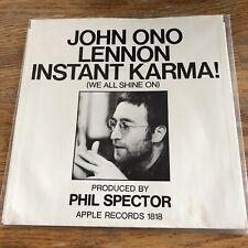 John Lennon Instant Karma Apple 1818 W/OS! Scranton Pressing Beatles Bonus Labe