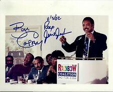 Bill Cosby & Rev Jesse Jackson signed dual 8x10 photo - Rare Vintage