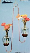 Mini Vase Hanging Flower Bud Glass Farmhouse Brass Butterfly