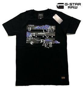 G-star Men's Black T-shirt Crew Neck 100% Cotton Short Sleeve Tee Brand New