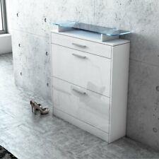 Oskar Store Alex LED Lighting Shoe Storage Cabinet 18 Pair Overdoor, White