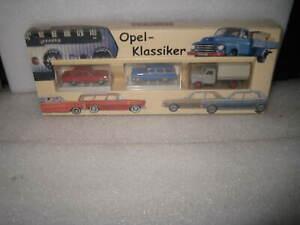 HO TRAIN SCALE BREKINA AUTO MODELS  OPEL KLASSIKER SET OF 3 CARS & TRUCK