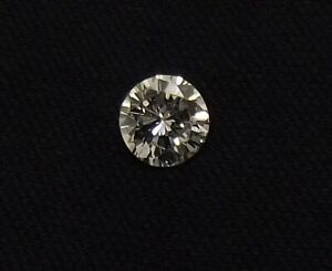ROUND BRILLIANT CUT NATURAL 0.25CT LOOSE DIAMOND WITH GRADING CERTIFICATE