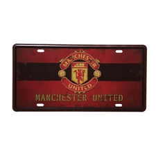 Manchester United football club License Plate Metal Poster Tin Sign Wall Decor
