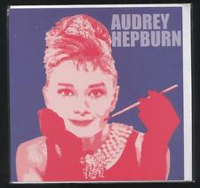 AUDREY HEPBURN POSTCARD +SOUND ENVELOPE NEW BLISTER PACK ACTRESS HOLLYWOOD