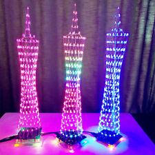 3D 16S DIY Kit Tower Cube Light LED Display Wireless Remote Colorful  16*16